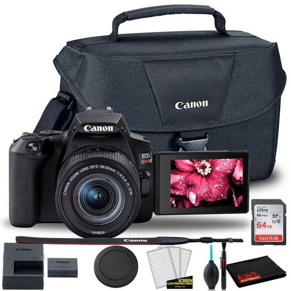 Canon EOS Rebel SL3 DSLR Camera with 18-55mm Len + Canon EOS Bag +. Opens flyout.