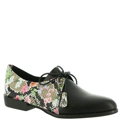 All Black Womens Rosey Ox Closed Toe Oxfords