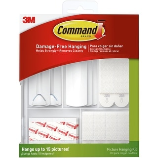 Command Picture Hanging Kit-38 Pieces - White