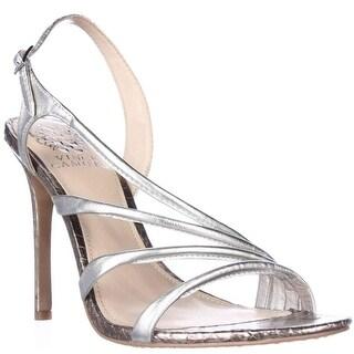 Vince Camuto Tiernan Slingback Strappy Dress Sandals - Silver Gleam