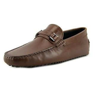 Tod's Mascherina Cinturino N.Gommini 122 Youth Square Toe Leather Brown Loafer