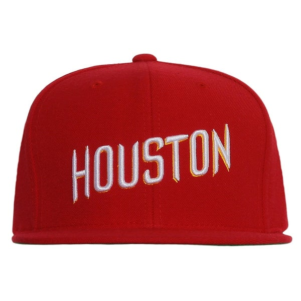 on sale 8a41a 5d9cd ... new zealand houston rockets font mitchell ness red snapback cap houston  rockets 82a14 daa5f