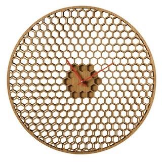 "Spinning Honeycomb Wall Clock - Large 16"" Diameter"