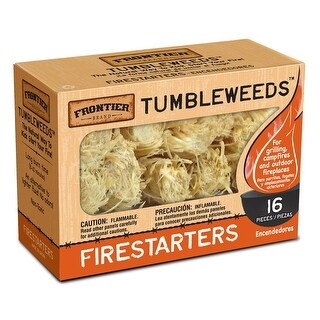 Frontier TWD16 Tumbleweed Firestarter 16-Pack Paraffin Wax Charcoal Starter