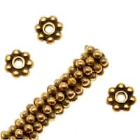 TierraCast 22K Gold Plated Pewter Daisy Spacer Beads 4mm (50)