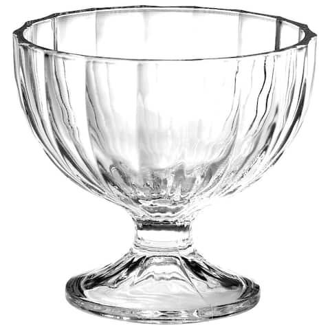 Bormioli Rocco Alaska Glass Dessert Bowl Wide Mouth Footed 8.75 Oz 6 Set, Clear - 8.75 oz capacity