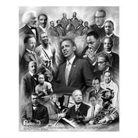 ''Great African Americans: Men'' by Wishum Gregory Celebrities Art Print (11 x 8.5 in.)