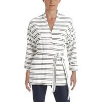 Ivanka Trump Womens Blazer Textured Striped