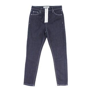 TopShop NEW Indigo Women 30x30 Jamie Moto Ankle Slim Stretch Jeans