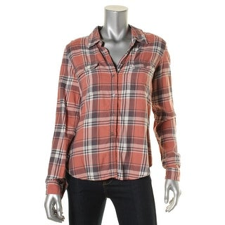 Paige Womens Shirts & Tops Plaid Long Sleeves