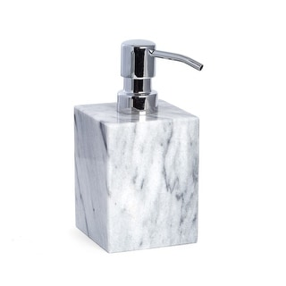 Link to Marble Bath Soap Dispenser in Cloud Grey Similar Items in Bathroom Accessory Sets
