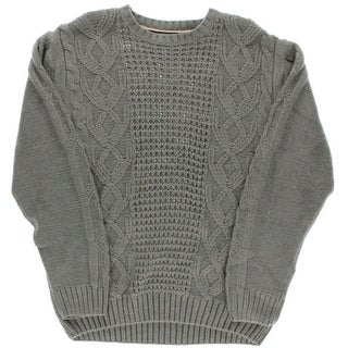 Weatherproof Mens Cable Knit Crew Neck Pullover Sweater