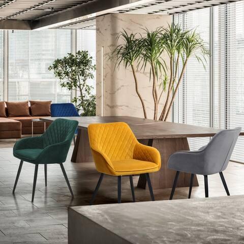 Furniture R Mid-Century Modern Velvet Dining Chair(Set of 2)