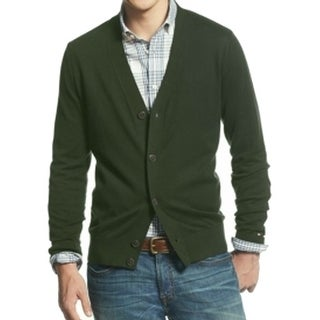 Tommy Hilfiger NEW Green Mens Size Small S Button Down Cardigan Sweater