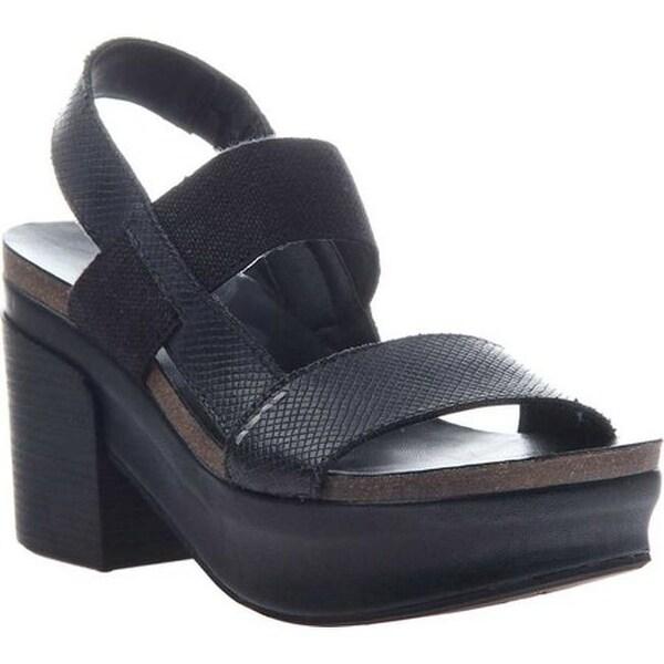 05938a6c400b5 Shop OTBT Women s Indio Block Heel Slingback Sandal Black  Leather Polyurethane - Free Shipping Today - Overstock - 18538754