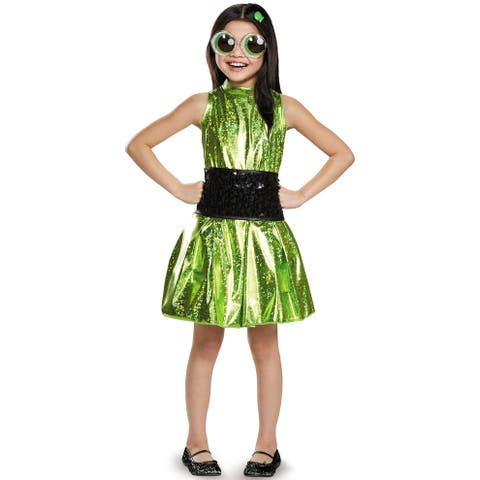Disguise Buttercup Deluxe Child Costume - Green/Black
