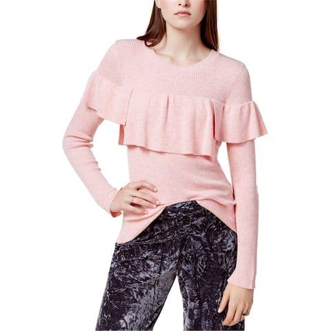 Kensie Womens Flounce Knit Sweater