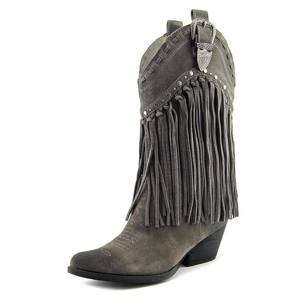 Very Volatile Wyatt Women Pointed Toe Suede Gray Western Boot