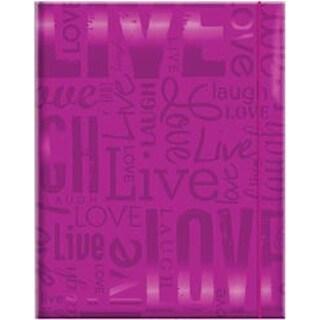 Live; Love & Laugh - Bright Purple Embossed Gloss Expressions Photo Album