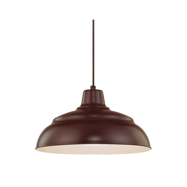 "Millennium Lighting RWHC14 R Series 1-Light Warehouse Pendant - 14"" Wide"