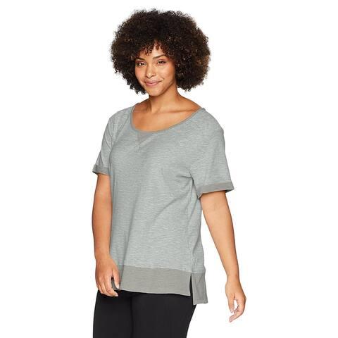 Columbia Women's Plus Size Easygoing Lite Tee, Flint Grey, 1X