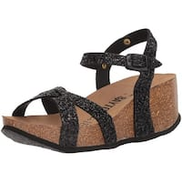 Bayton Womens venus Open Toe Casual Platform Sandals