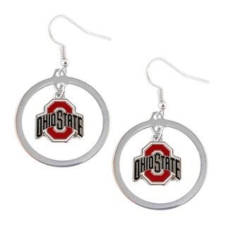 Ohio State Buckeyes Hoop Logo Earring Set NCAA Charm