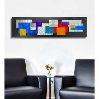 Link to Statements2000 Metal Wall Art Sculpture Multicolor Geometric by Jon Allen - Modern Secret Similar Items in Metal Art