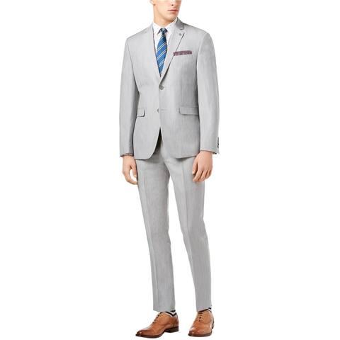 Penguin Mens Comfort Stretch Two Button Formal Suit, Grey, 42 Short / 35W x 32L - 42 Short / 35W x 32L
