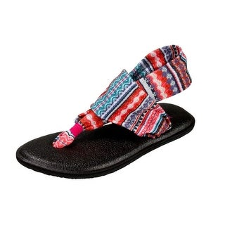 Sanuk Casual Sandals Girls Yoga Sling Burst Prints Knit
