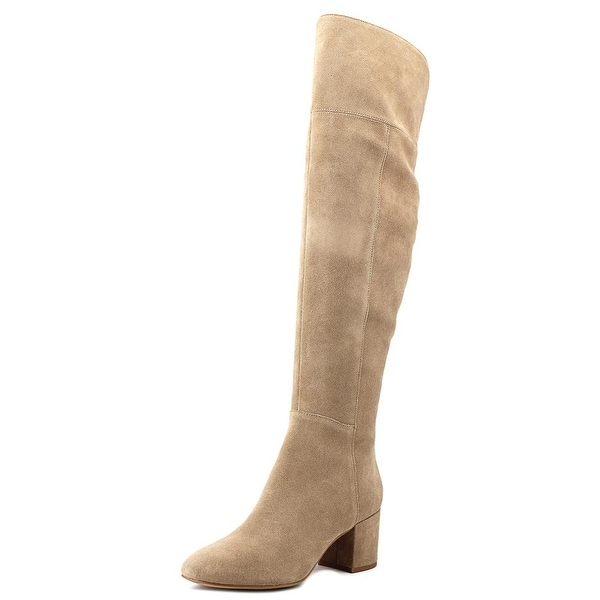 561a36d30c91 Shop Franco Sarto Kerri Women Round Toe Suede Gray Knee High Boot ...