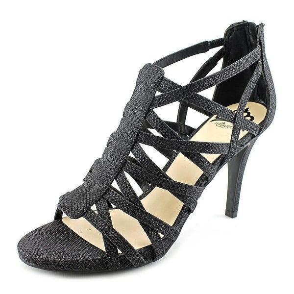 Fergalicious Hattie Women Open Toe Canvas Black Sandals