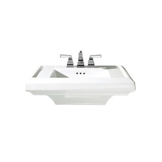"""American Standard 790.004 Town Square Pedestal Sink Only with 24"""" Length and Overflow"""