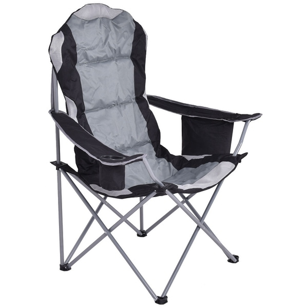 Fishing Camping Chair Seat Cup Holder Beach Picnic Outdoor Portable Folding Bag-Gray. Opens flyout.
