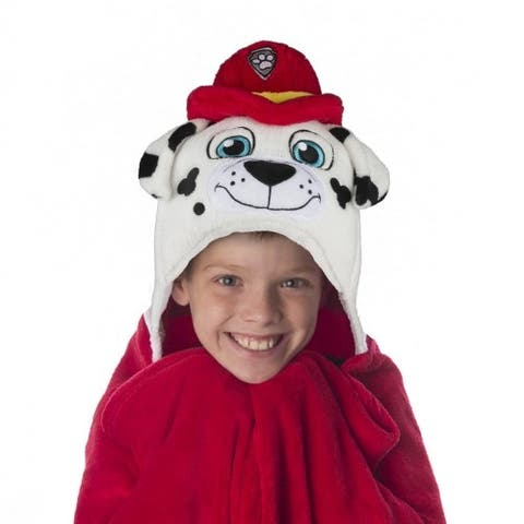 Comfy Critters Hooded Blankets - Paw Patrol Marshall