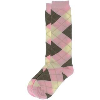 Country Kids Girls Argyle Knee-High Socks - 8-9