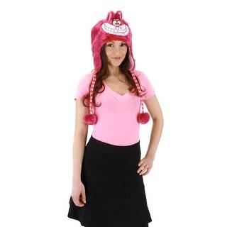 Alice In Wonderland Disney Cheshire Cat Adult Costume Hoodie Hat - Pink