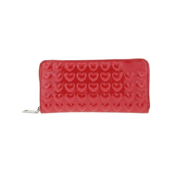 7dbb29dea8 Marc Jacobs Womens Money Pouch Patent Leather Continential Zip Wallet -  MEDIUM