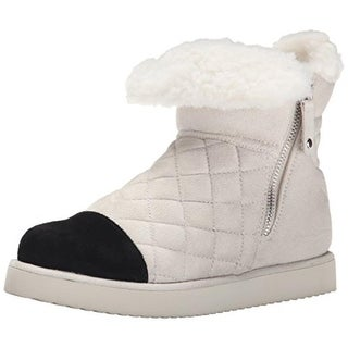Madden Girl Womens Downwind Faux Fur Ankle Winter Boots