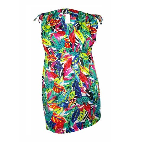 Lauren Ralph Lauren Women's Rainforest Tropical Farrah Swim Cover (XL, Multi) - Multi - XL