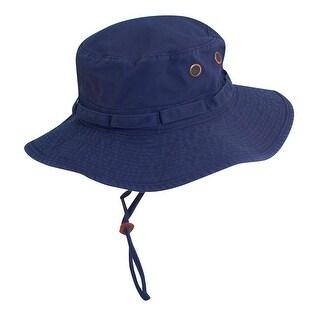 Dorfman Pacific Outdoor Boonie Bucket Hat - Navy - Medium