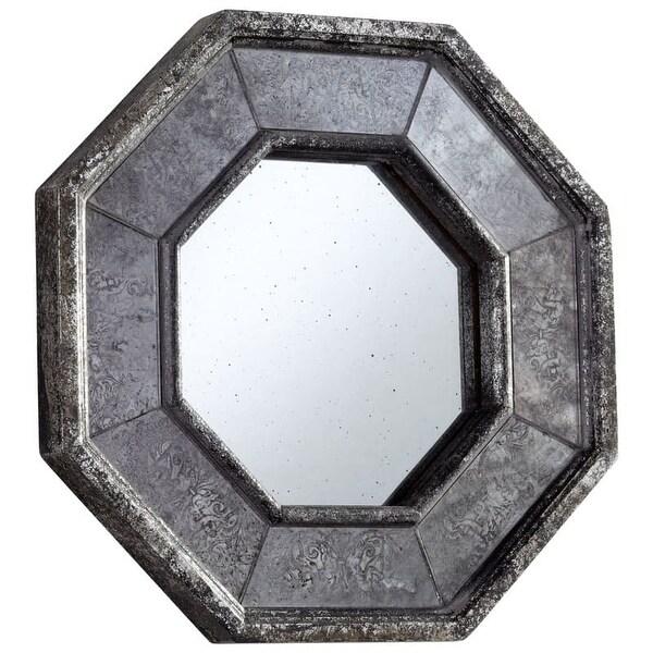 Cyan Design Sparta Mirror 13.25 x 13.25 Sparta Octagonal Wood Frame Mirror - N/A
