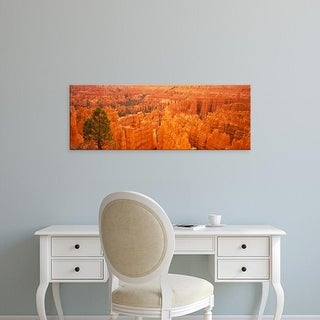 Easy Art Prints Panoramic Image 'High angle view of rock formations, Bryce Canyon National Park, Utah, USA' Canvas Art