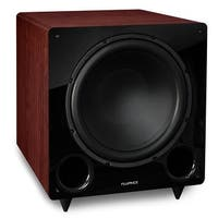Fluance DB12MA 12-inch Low Frequency Ported Front Firing Powered Subwoofer for Home Theater & Music (Mahogany)
