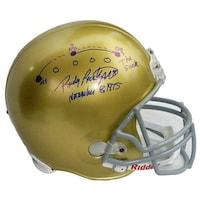 63961a9bdbe Shop Rudy Ruettiger Signed Notre Dame Irish FS Replica Helmet 5 Foot ...