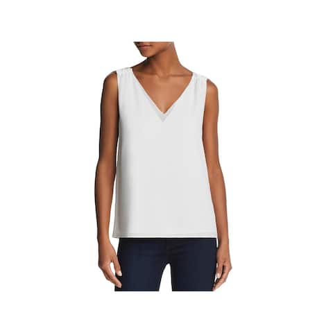 Cooper & Ella Womens Ivy Tank Top Double V Sleeveless