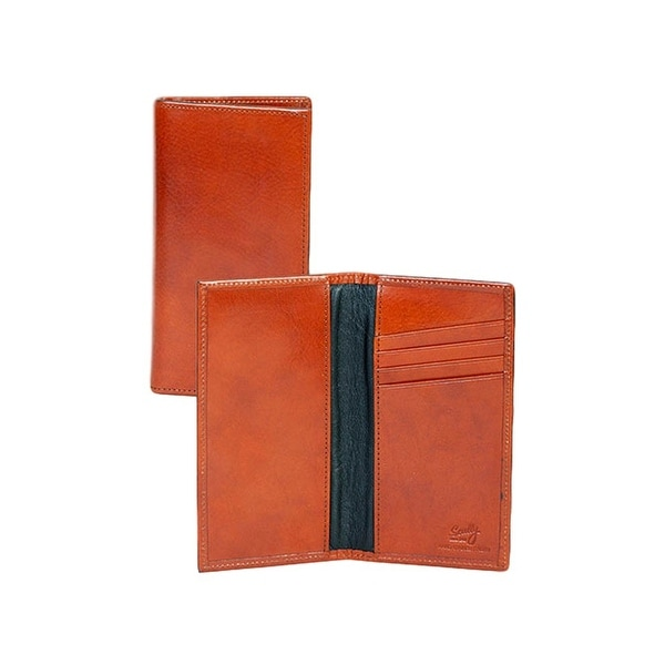 Scully Western Mens Wallet Italian Checkbook Cover Card Slots - One size