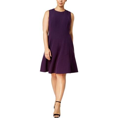 Anne Klein Womens Plus Wear to Work Dress Fit & Flare Sleeveless