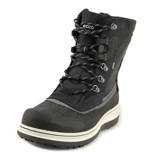 Ecco Roxton Men  Round Toe Leather Black Winter Boot
