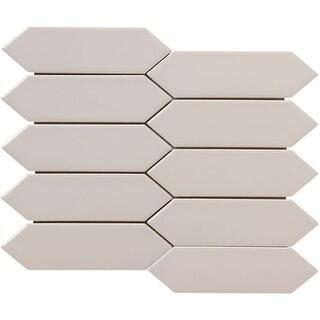 "Emser Tile W13ELIXA0810MO Elixir - 9-3/4"" x 8-7/16"" Linear Hexagon Mosaic Multi- - N/A (Option: taupe)"